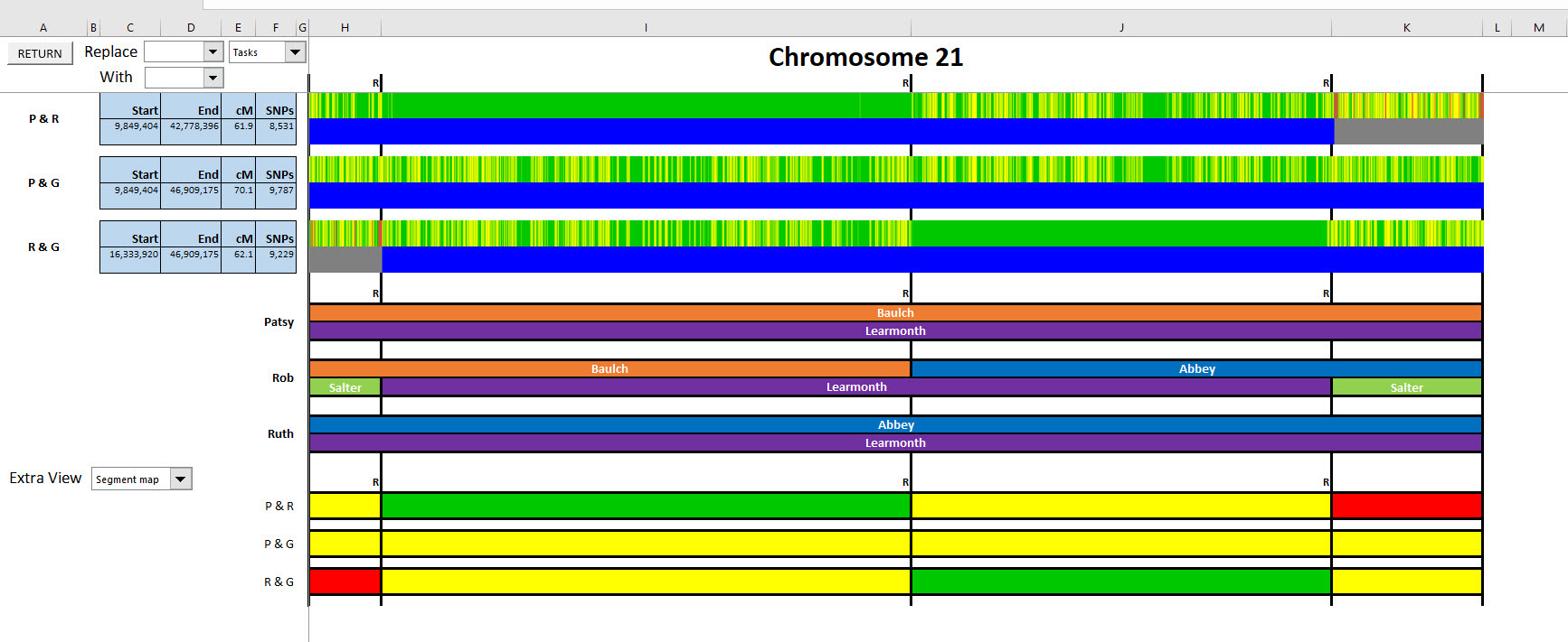 Phased Chromosome 21